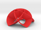 Flower Dome 5b (thin) in Red Strong & Flexible Polished