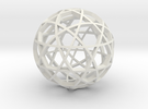 Dodecahedron Ball (narrow) in White Strong & Flexible
