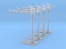 4 NMBS waterkranen / 4 colonnes SNCB (long) in Frosted Ultra Detail