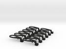 TT Peresvet NEM coupler mount in Black Strong & Flexible