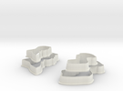 Jane Austen cookie cutters trial set (small) in White Strong & Flexible
