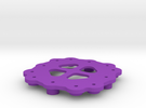 Quadrocopter - Frame Central Plate in Purple Strong & Flexible Polished