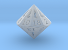 18 Sided Die - Small in Frosted Ultra Detail