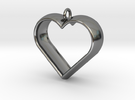 Stylized Heart Pendant in Premium Silver