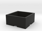 Plant Pot 15x15x6 cm / 5,90x5,90x2,36 in in Black Strong & Flexible