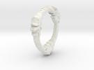 TripleOurouboros Lion Pendant in White Strong & Flexible