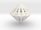26 Sided Die - Regular in White Strong & Flexible