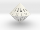 28 Sided Die - Regular in White Strong & Flexible