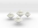 Large Dipyramidal Dice Set in White Strong & Flexible