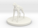 1 Inch Robot Canine in White Strong & Flexible