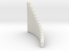 "Right-handed ""Salsero"" wholetone panpipe in White Strong & Flexible"