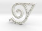 Hidden Leaf Pendant  in White Strong & Flexible