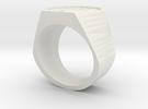 Graduate Ring Model Alt in White Strong & Flexible