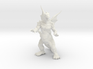 "Pyrosaurus - 2"" in White Strong & Flexible"