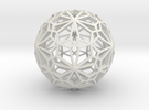 Compound of two pentagonal hexecontahedra in White Strong & Flexible