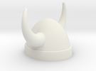 ModiBot Hex Viking Helm in White Strong & Flexible
