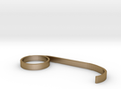 Chelsea Ring #3 Finger in Polished Gold Steel