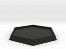 "1 5/6"" Diameter Hex Base in Black Strong & Flexible"