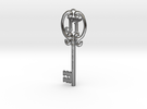 Key to the Heart in Polished Silver