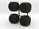 Braille Dice x4 in Black Strong & Flexible