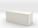 20ft Container Smooth, (NZ120 / TT, 1:120) in White Strong & Flexible