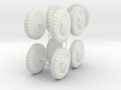 German 1:18 Sd.Kfz. 234/2 Puma Wheels in White Strong & Flexible