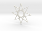 star1 ornament by Jorge Avila in White Strong & Flexible