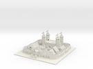 Minecraft Medival City  in White Strong & Flexible
