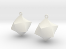 Merkaba Solid Earrings in White Strong & Flexible