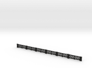 Small-star railing HO single in Black Strong & Flexible