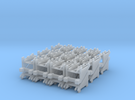 N Gauge Station End Buffer Stops X 24 in Frosted Ultra Detail