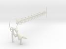 Valentines Charm Bracelet in White Strong & Flexible