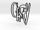 GARY logo (8cm) in Black Strong & Flexible