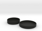 Petri Dish and Lid 60mm in Black Strong & Flexible