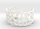 Cell Cuff (48mm Inner Radius) in White Strong & Flexible Polished
