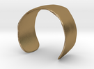 Molded Cuff  (48mm Inner Radius) in Polished Gold Steel