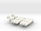Hot Rod Pipes in White Strong & Flexible