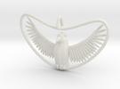 Bird Pendant in White Strong & Flexible