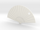 Oriental Fan in White Strong & Flexible Polished