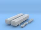 1:160 N Scale 43' Aluminum Grain Trailer w/ Tarp in Frosted Ultra Detail