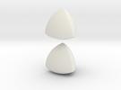 Jumbo (4cm) Meissner Solids in White Strong & Flexible