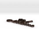 Cafe Nocturne Necklace, Logo Combined in Matte Bronze Steel