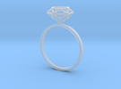 Diamond Ring 52 in Frosted Ultra Detail