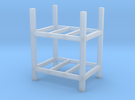 Steel Storage Racks 1-87 2 High in Frosted Ultra Detail