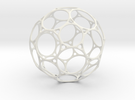 BuckyBallc60 12cm in White Strong & Flexible