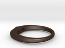 Ring 022 in Matte Bronze Steel