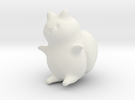 "Catbug - 4"" tall in White Strong & Flexible"