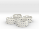 Double Bubble Napkin Rings (4) in White Strong & Flexible