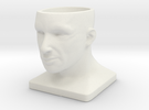 Human Face Pot V1 - H44MM in White Strong & Flexible