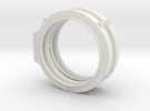 1/72 scale ET ATTACH RING Assembly in White Strong & Flexible